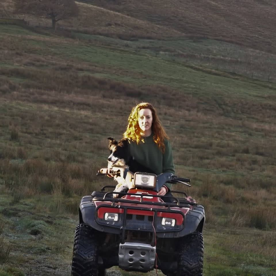 dot on her tractor
