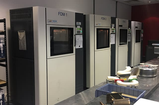 Four of FDM's machines