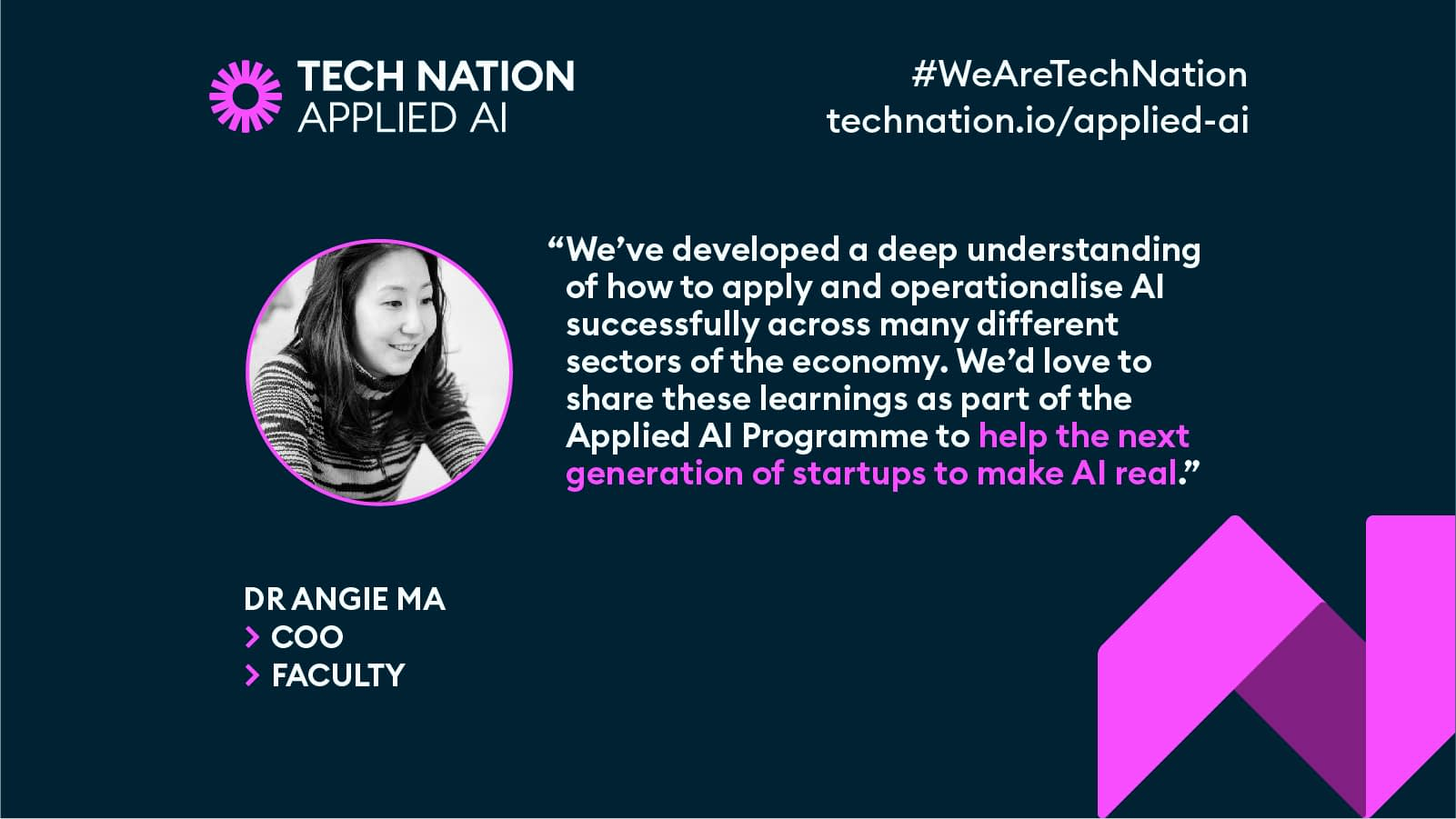 Angie Ma on Tech Nation's AI growth prgramme