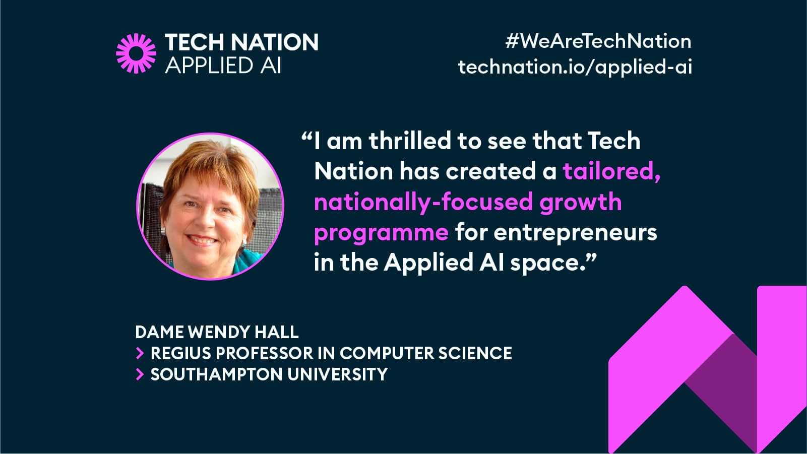 Dame Wendy Hall on Tech Nation's AI growth prgramme