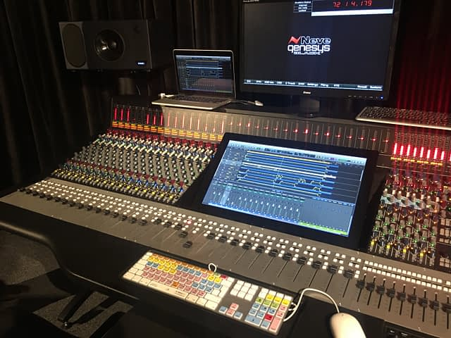 One of AMS Neve's high-end mixing desks.