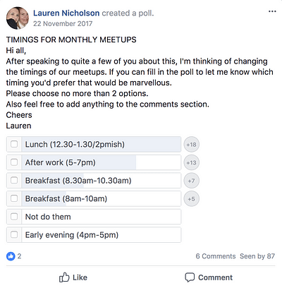 Founders' Network Facebook Group