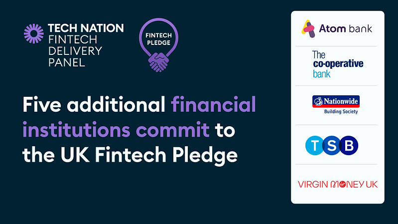 Five more financial institutions join the UK Fintech Pledge